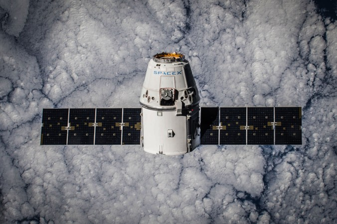 CRS-5 Dragon in Orbit
