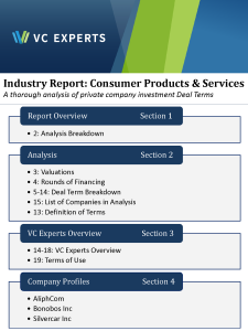 IndustryReportConsumerProductsServices